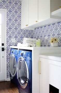 Centsational Girl » Blog Archive Wallpapered Laundry Rooms - Centsational Girl