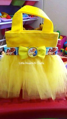 Belle Beauty and the Beast Purse Belle Princess Inspired Tutu Purse Canvas Tote Bag Beauty And The Beast Party, Beauty And The Best, Belle Beauty And The Beast, Princess Birthday, Princess Party, Bday Girl, Patchwork Bags, Disney Crafts, Goodie Bags