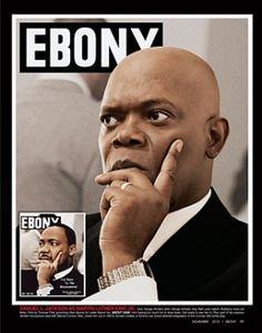Samuel L.Jackson poses as Martin Luther King Jr On Ebony magazine Jet Magazine, Black Magazine, Life Magazine, Ebony Magazine Cover, Magazine Covers, Dona Summer, Samuel Jackson, 65th Anniversary, Vintage Black Glamour