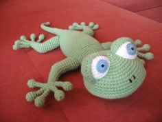 Crochet: Lizard (step by step photos of knitting. Comments: The Diaries of the CP