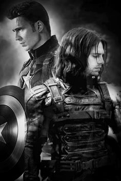 Captain America and the Winter Soldier. (Steve Rogers and Bucky Barnes.)