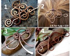 For only $5, babita943 will make you a copper wire hair barrette for 2 gigs. | Handmade unique beautiful jewelry.This lovely minimalist hair slide will add a metallic sparkle to your hair-do to complete your look. It is hand-forged from copper | On Fiverr.com