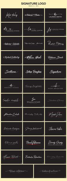 I love myself a good signature logo. Signature Ideas, Photo Signature, Signature Fonts, Signature Design, Dentist Logo, Photography Logo Design, Photography Signature Logo, Restaurant Logo Design, Visual Identity