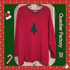 Quacker Factory Sweater ~ RED ~Size 2X - Mercari: Anyone can buy & sell