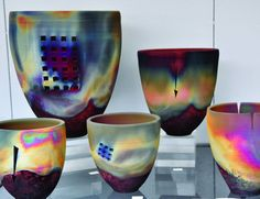 Barry Bernstein raku-fired vessels