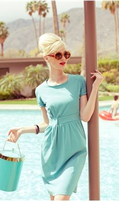 Love this retro look.    Women's Dresses, Skirts, Blouses, Casual Dresses and Women's Apparel | Shabby Apple
