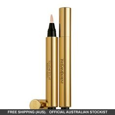YSL Touché Eclat Radiant Touch Concealer for under the eye. Cult classic secret weapon because it doesn't make a mess when you apply it and easy to apply! Daily Beauty, My Beauty, Beauty Care, Health And Beauty, Beauty Makeup, Beauty Stuff, Eye Makeup, Ysl, Beauty Guide