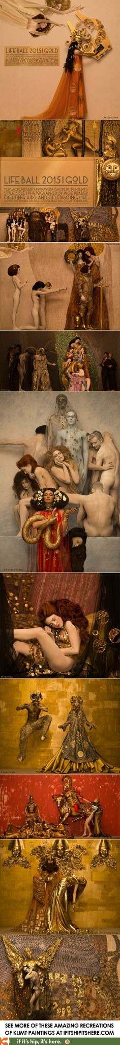 The largest and best photos of the Klimt paintings brought to life for the 2015 Life Ball at http://www.ifitshipitshere.com/life-ball-2015-gustave-klimt-to-life/  #artnouveau #ingeprader #klimt #lifeball #photography #gustavklimt