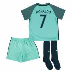 Portugal Fodboldtøj Børn 2016 Cristiano Ronaldo Udebane Trøje Kortærmet.  http://www.fodboldsports.com/portugal-fodboldtoj-born-2016-cristiano-ronaldo-udebane-troje-kortermet.  #fodboldtrøjer