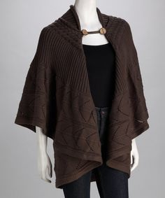 Take a look at this Gray Cape - Women by Angie Apparel on #zulily today!