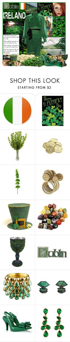 """""""Irish Blessing"""" by jleigh329 ❤ liked on Polyvore featuring Toland Home Garden, New Growth Designs, House of Harlow 1960, Nak Armstrong, Vivienne Westwood and Amrita Singh"""