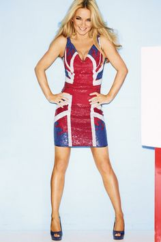 Flying the flag for Britain! Geri Halliwell goes native ...