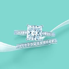 A Tiffany engagement ring is the ultimate symbol of love. #TiffanyPinterest #TiffanyWeddings #Diamond