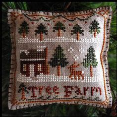2012 Ornament 2 - Tree Farm - Cross Stitch Pattern