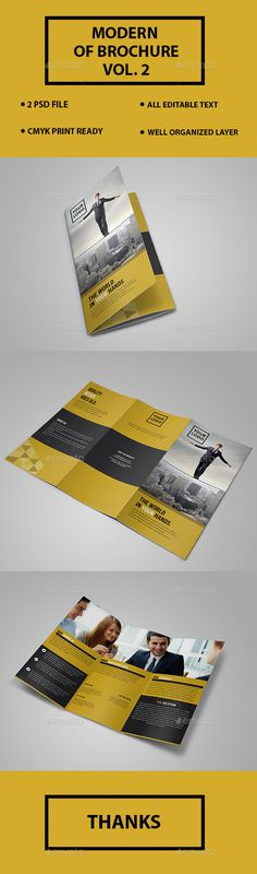 Creative Trifold Brochure Template - Brochures Print Templates