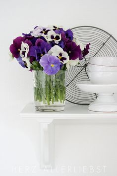 I love pansies - lovely colour selection here