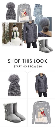 """Out building a snowman ⛄⛄"" by autumn-aaliyah ❤ liked on Polyvore featuring Anne Klein, UGG Australia, Wrap, women's clothing, women's fashion, women, female, woman, misses and juniors"