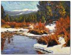 "Lorenzo Chavez | ""Fall River, Colorado"" | Oil, 14 x 18"""