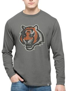 Cincinnati Bengals 47 Brand Wolf Grey Long Sleeve Cotton Flanker T-Shirt a839c5bb6