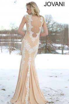 2015 Jovani Lace Bodice Prom Dress 89902