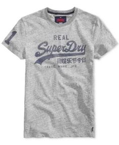 Superdry Men's Vintage Graphic-Print Logo T-Shirt  - Gray S