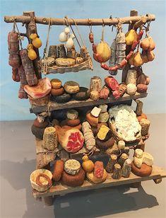Miniature Crafts, Miniature Food, Miniature Dolls, Christmas Nativity Scene, Christmas Time, Diy Dollhouse, Dollhouse Miniatures, Enchanted Forest Decorations, Homemade Dolls