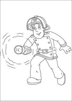 Brandweerman Sam Kleurplaten voor kinderen. Kleurplaat en afdrukken tekenen nº 48