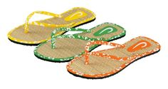 Caraibi a classic flipflop with straw insole