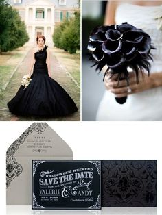 Glamorous Wedding Decor | For those of you who think a Halloween wedding is only about ghosts ...