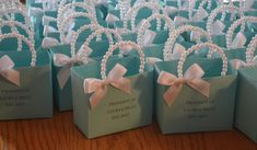 Blue party favor bags for your baby shower