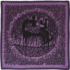 I Still Wish We Had Known - a wonderful Rob Ryan scarf in purple