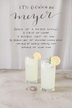 meyer lemon gin cocktail
