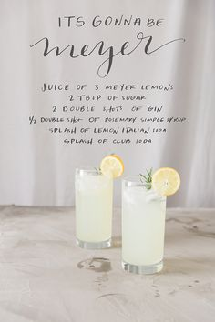 Meyers lemon gin