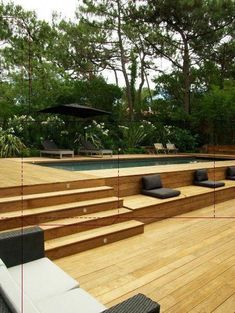Getting an above ground pool for your home is a big decision but isn't a difficult problem if you know it. You must know about information best pool to your limited time and budget. Here We've provide a list of above ground pool ideas with decks and some Backyard Pool Landscaping, Swimming Pools Backyard, Swimming Pool Designs, Small Backyard Decks, Above Ground Pool Decks, Above Ground Swimming Pools, In Ground Pools, Oberirdische Pools, Cool Pools
