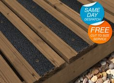 1. Hardwearing strips for decking or steps - quick and easy to install.