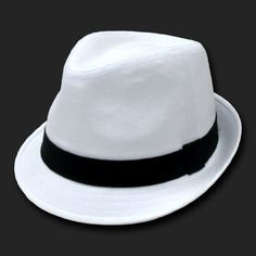 02adf0d1d4f DKY White  amp  Black Basic Woven Fedora Hat Hats Size Lg XL  15.99 White