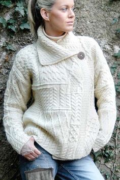 I normally avoid wool, but I'd make an exception.  Several women in my family own this sweater, and it looks great on all of them.