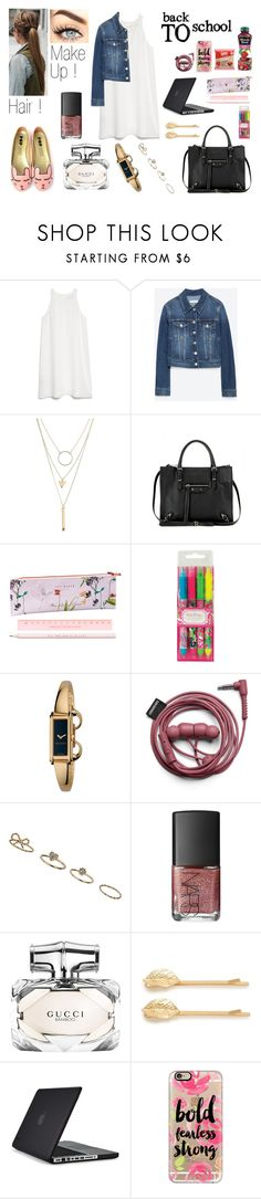 """ Back to School 6 !! "" by milena-serranista ❤ liked on Polyvore featuring MANGO, Zara, Charlotte Russe, Balenciaga, Ted Baker, Lilly Pulitzer, Gucci, Dorothy Perkins, NARS Cosmetics and Cara"
