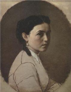"""""""Portrait of E.E. Perov"""", c. 1860, by Vasily Perov (Russian, 1834-1882)"""