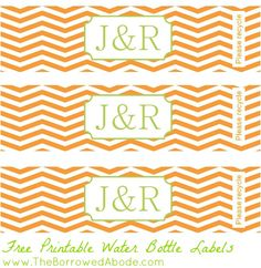 Free Printable Water Bottle Labels | The Borrowed Abode