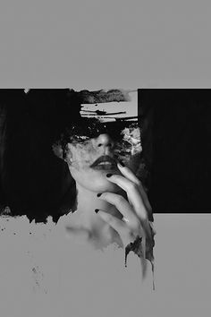 PHOTOGRAPHY AND PAINT PORTRAITS - Philippine artist Janus Miralles makes very beautiful abstract portraits by mixing photography and paint as a way to create. Often in black and white, faces are erased with a certain darkness, as if they were burnt.
