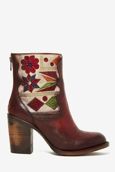 Freebird Hendrix Leather Tapestry Boot - Brown - Shoes