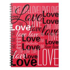 Love Word Art Pattern Notebook - wedding ideas diy marriage customize personalize couple idea individuel