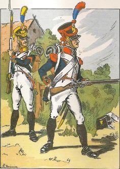 Volteggiatore e granatiere del 3 reggimento fanteria di linea nel 1812