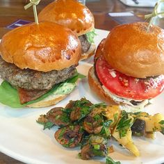 Mushroom Blended Burgers   In our Best Things We Ate series, we roundup the best restaurant meals, blog recipes + at-home cooking adventures of the month. Bon Appetit!