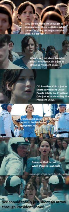 Katniss' epic speech #hungergames #meangirls