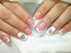 #nails #french #white #heart #valentinesday