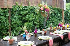 Boho baby shower on 100 Layer Cakelet - colored accents, ceramic pots