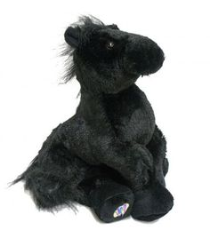 """Webkinz ® Black horse plush. 8.5"""" tall. Discover a virtual world with your plush horse, with the secret code you can play with your new plush online!"""