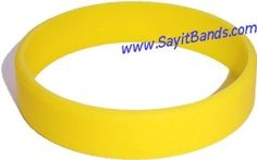Child Size Yellow Wristband for Kid One Silicone Bracelet - http://www.wonderfulworldofjewelry.com/jewelry/childrens-jewelry/boys-jewelry/child-size-yellow-wristband-for-kid-one-silicone-bracelet-com/ - Your First Choice for Jewelry and Jewellery Accessories